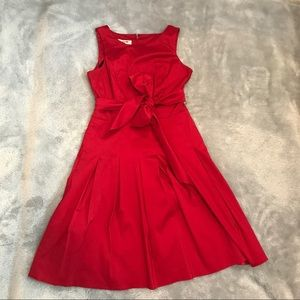 A-line red dress with bow